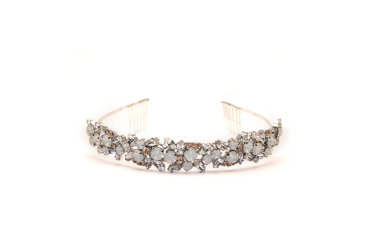 Tiara con cristalli Swarovski