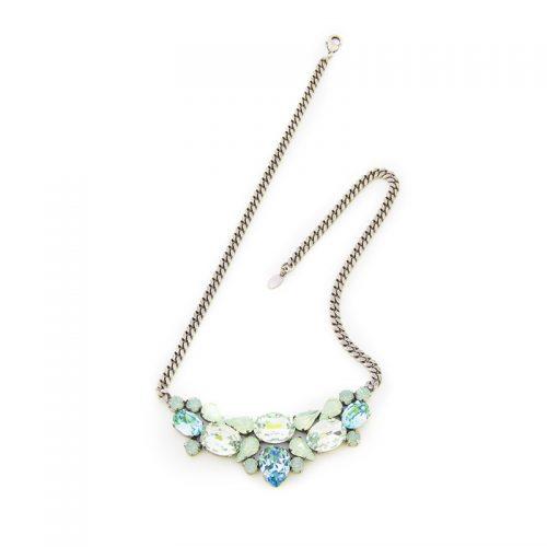 Collana azzurro mare con cristalli Swarovski
