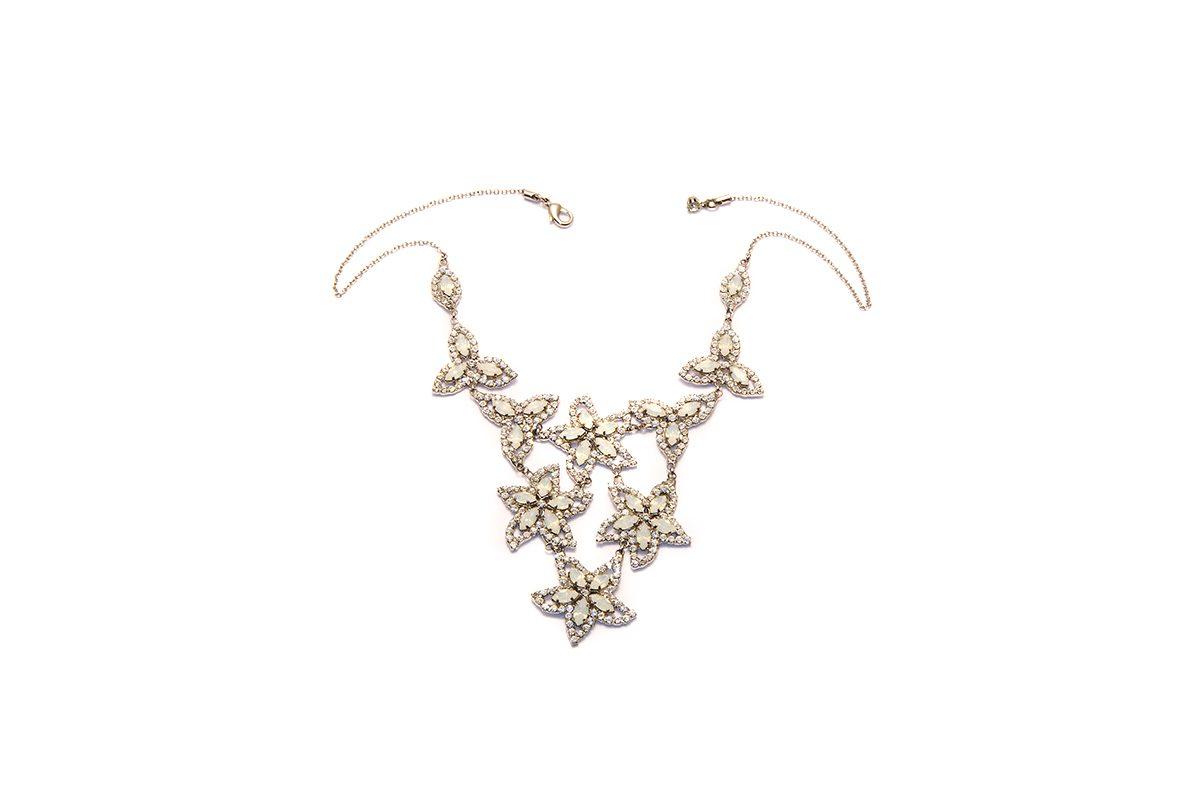Wedding collana cristallo e navette white opal